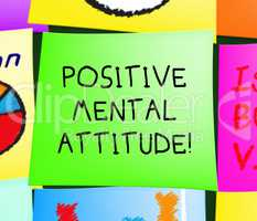 Positive Mental Attitude Displays Optimism 3d Illustration