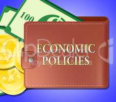 Economic Policies Meaning Economics Guide 3d Illustration