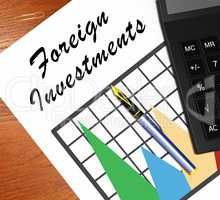 Foreign Investments Meaning Investing Abroad 3d Illustration
