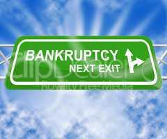 Bankruptcy Shows Bad Debt And Arrears 3d Illustration