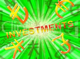 Investment Symbols Shows Trade Investing 3d Illustration