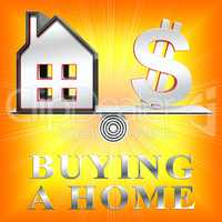 Buying A Home Represents Real Estate 3d Rendering