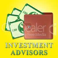 Investment Advisors Means Investing Advice 3d Illustration