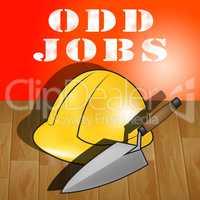 Odd Jobs Representing House Repair 3d Illustration