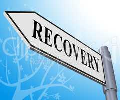 Recovery Sign Representing Get Back 3d Illustration