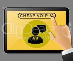 Cheap Voip Tablet Representing Internet Voice 3d Illustration