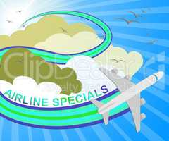 Airline Specials Meaning Airplane Promotion 3d Illustration