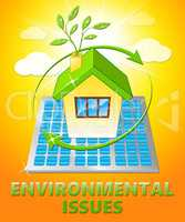 Environment Issues House Shows Nature 3d Illustration