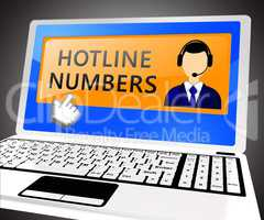 Hotline Numbers Shows Online Help 3d Illustration