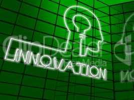Innovation Head Shows Reorganization Transformation 3d Illustrat