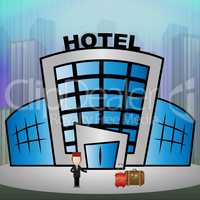 Hotel Room Meaning City Reservation 3d Illustration