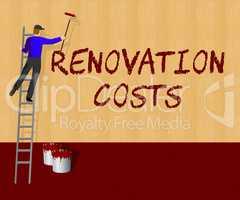 Renovation Costs Shows House Remodeler 3d Illustration