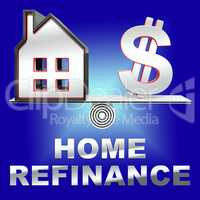 Home Refinance Showing Equity Mortgage 3d Rendering