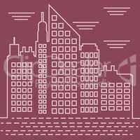 Skyscraper Buildings Shows Corporate Cityscapes 3d Illustration