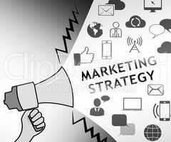 Marketing Strategy Representing Market Plans 3d Illustration