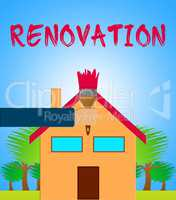 House Renovation Meaning Home Improvement 3d Illustration