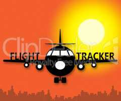 Flight Tracker Meaning Airplane Status 3d Illustration