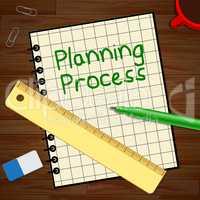 Planning Process Represents Plan Method 3d Illustration
