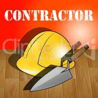 Building Contractor Represents Real Estate 3d Illustration
