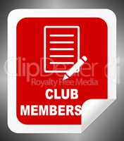 Club Membership Means Join Association 3d Illustration