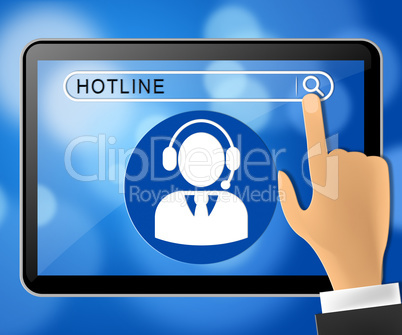 Hotline Tablet Shows Online Help 3d Illustration