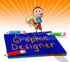 Graphic Designer Displays Designing Job 3d Illustration