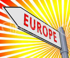 Europe Sign Meaning Euro Area 3d Illustration