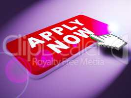Apply Now Means Occupation Admission 3d Rendering