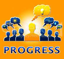 Progress People Shows Betterment Headway 3d Illustration