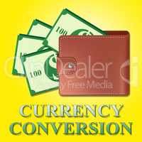 Currency Conversion Means Money Exchange 3d Illustration