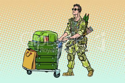 Military tourism, the mercenary with a Luggage