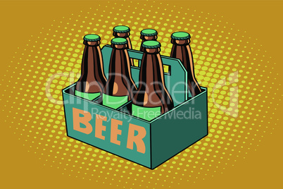 beer packaging, illustration