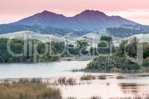 Mount Diablo Sunset from Marsh Creek Reservoir.
