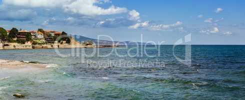 Panoramic picturesque seascape