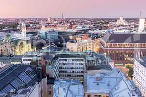 Dusk Over Helsinki Rooftops.