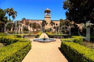 Beautiful Alcazar Garden at the Balboa Park in San Diego