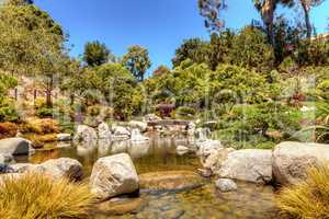 Tranquil Japanese Friendship Garden at the Balboa Park in San Di