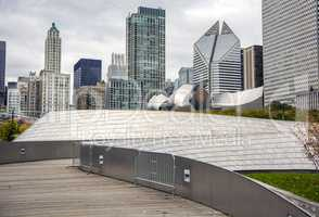 The BP Bridge in Millennium Park, Chicago