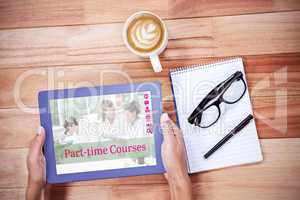 Composite image of composite image of part-time courses