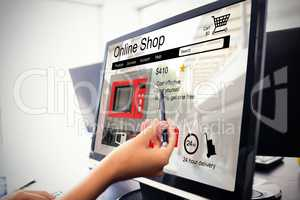 Composite image of washing machines for sale displayed on web page