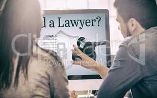 Composite image of graphic interface of lawyer contact form