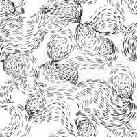 Abstract ripple line seamless pattern. Wavy swirl ornamental bac