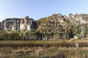 Elbe River and the Elbe Sandstone Mountains