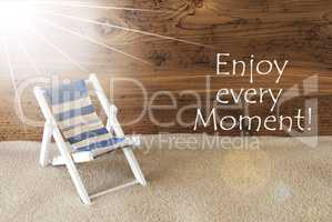 Summer Sunny Greeting Card And Quote Enjoy Every Moment