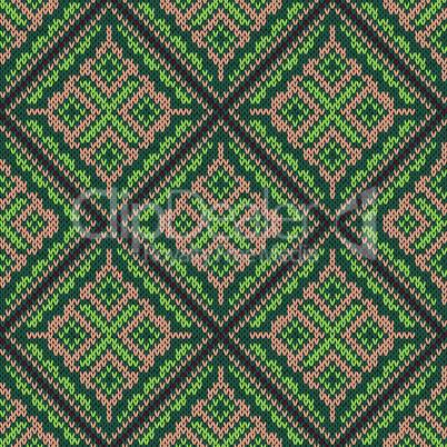 Seamless knitting square pattern