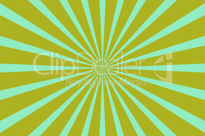 Yellow blue pop art background with rays