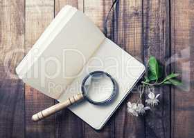Still life with a notepad