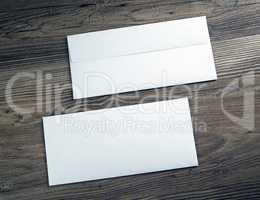 Two white envelopes