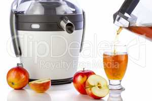 Electric juicer and apple juice