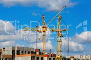 Tower cranes on the construction